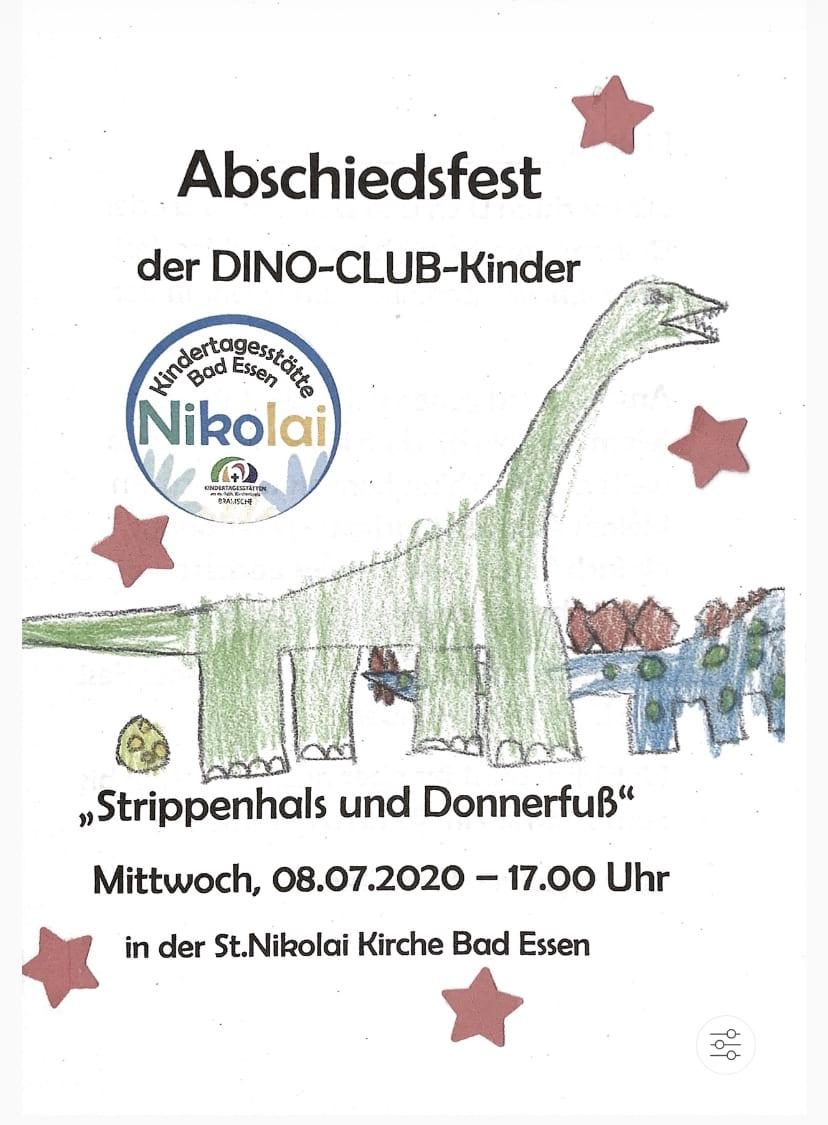 Abschiedsfest für die DINO-CLUB-Kinder